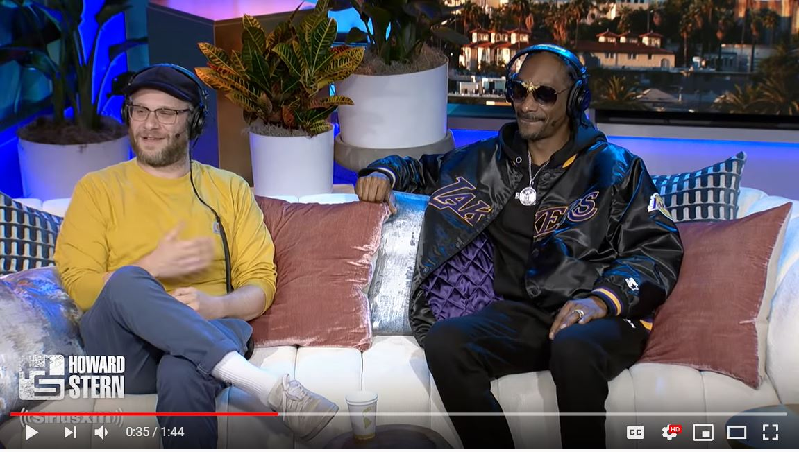 Seth Rogen and Snoop Dogg on the Howard Stern Show.