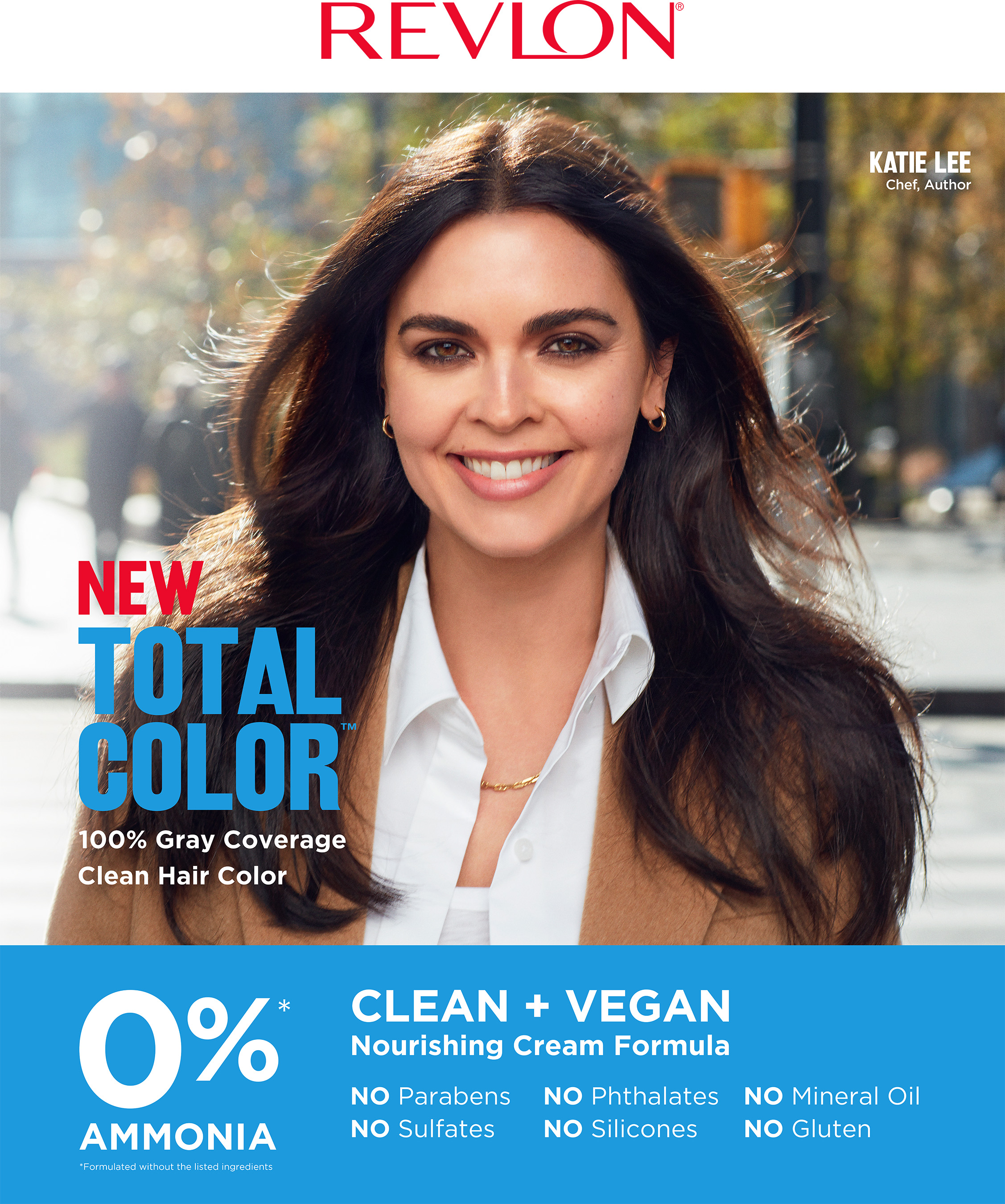 Emmy-nominated TV chef, Katie Lee is Revlon's Total Color Ambassador.