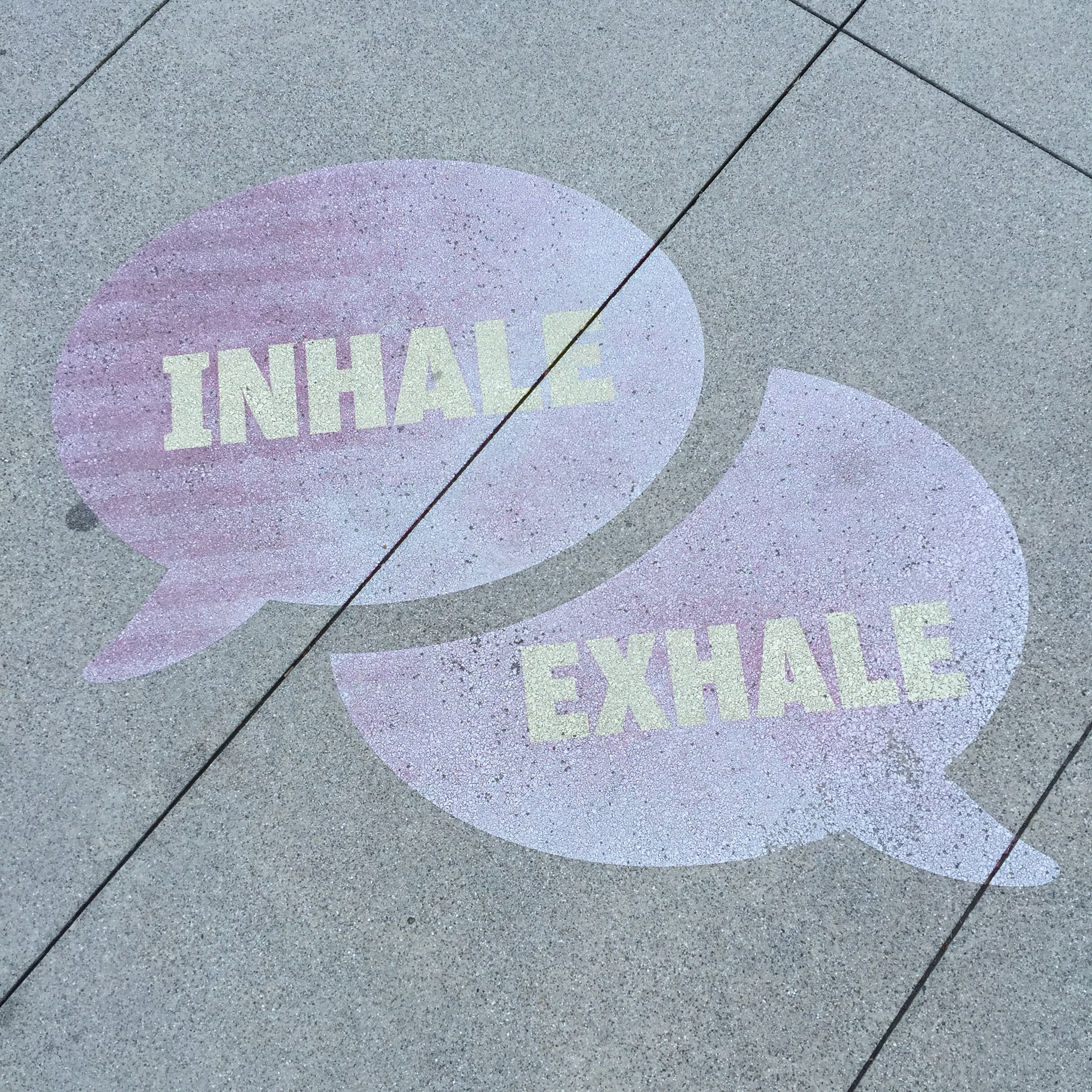 Inhale and exhale signs.