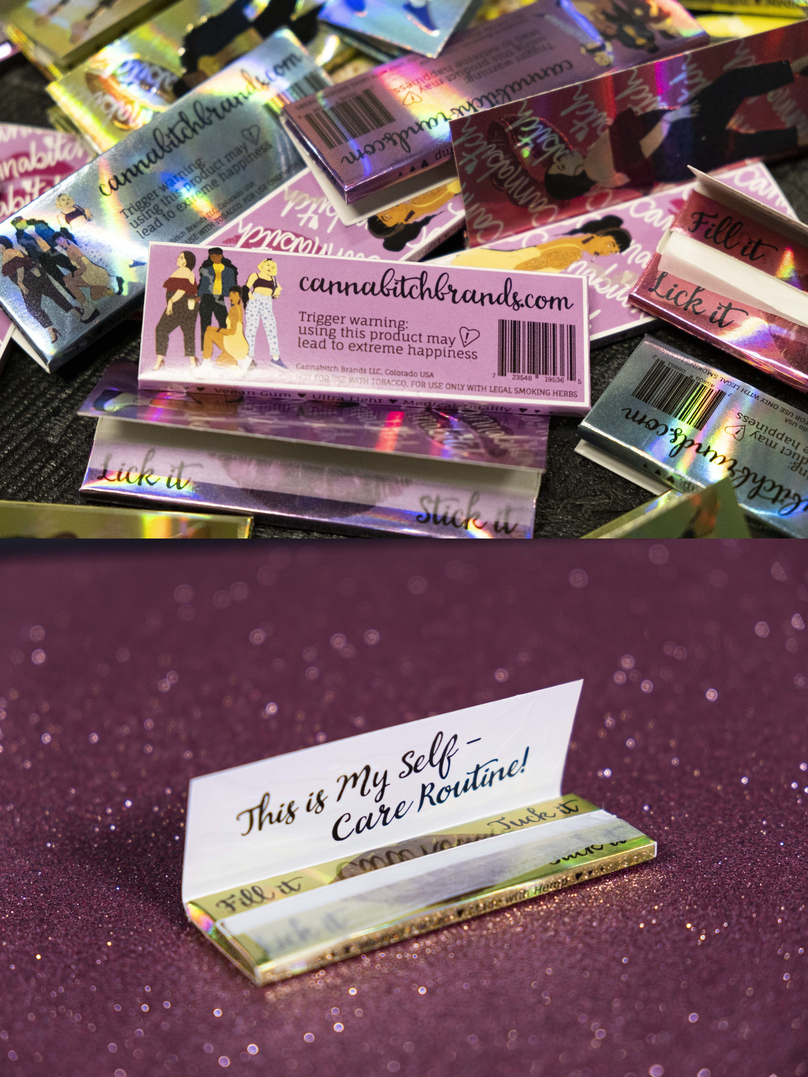Cannabitch Brands vegan rolling papers.