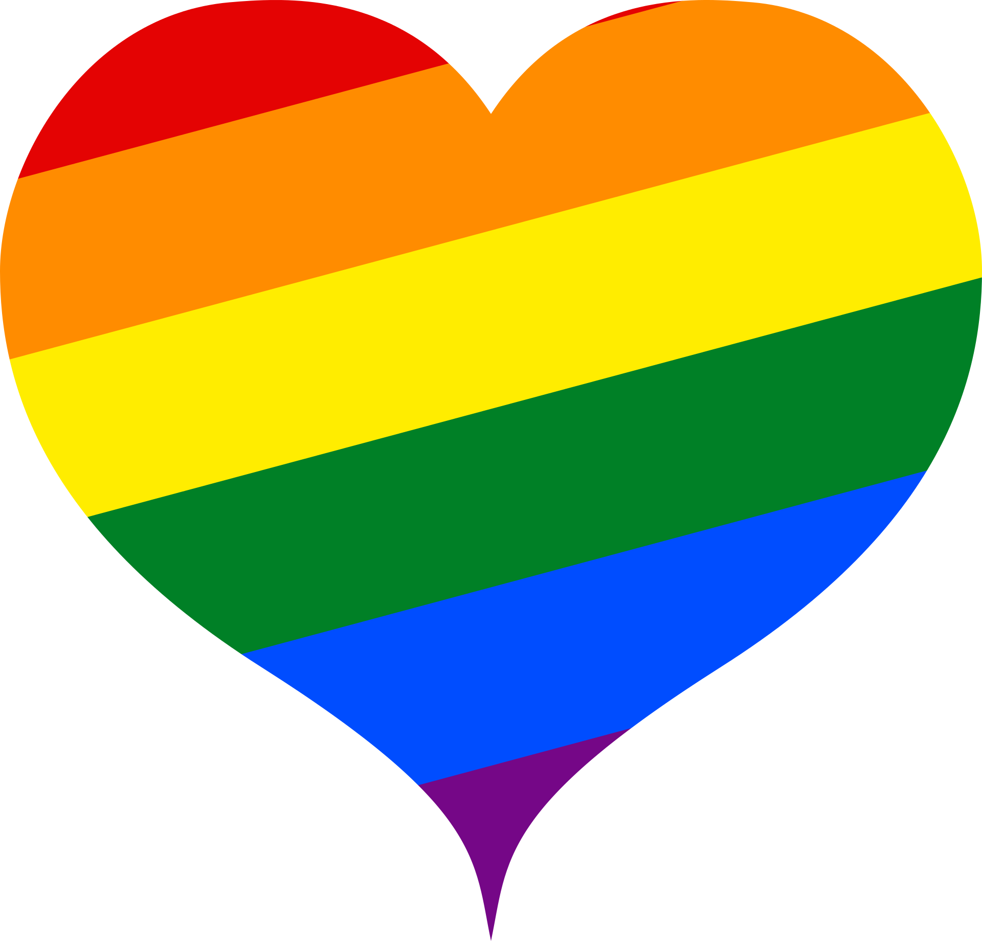 Pride heart graphic.